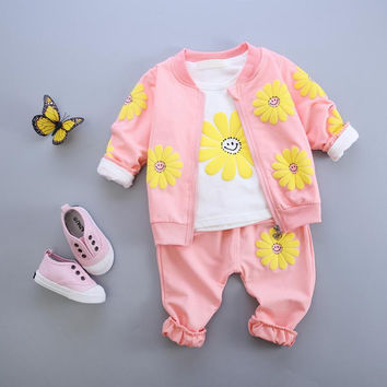 GIRL'S FLOWER POWER 3 PIECE OUTFIT