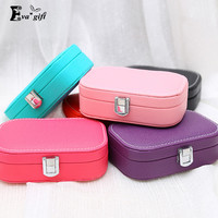Portable Jewelry Organizer leather Travel jewelry box