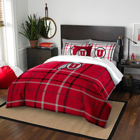 Utah Utes NCAA Full Comforter Set (Soft & Cozy) (76 x 86)