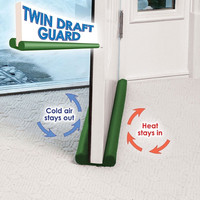 Twin Draft Guards Lot Of 2 Windows & Doors Energy Saving Cool Heat Insulator