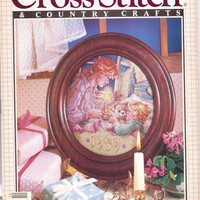 Vintage 1980s Cross Stitch & Country Crafts Magazine Nov/Dec 1989 Counted Cross Stitch 26 Projects Hanukkah Cross Stitch