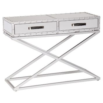 Lazio Industrial Mirrored Console Table - Aiden Lane