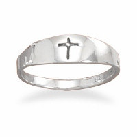 Graduated Band with Oxidized Cross Ring