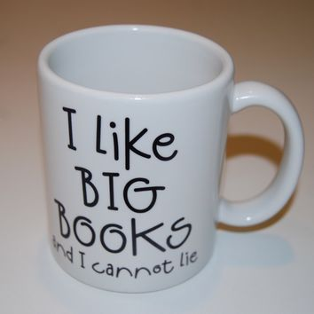 i like big books coffee mug
