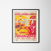 Casablanca Poster,Vintage Movie Poster, Digital Download, 300dpi