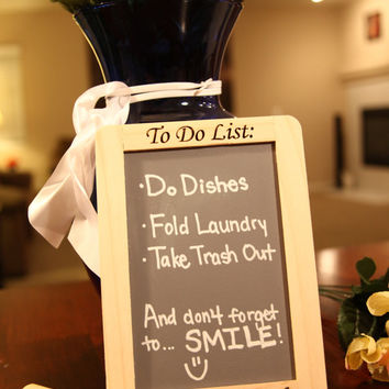 "Custom Engraved Refrigerator Magnet ""To Do"" List with  Personalized Family Name"