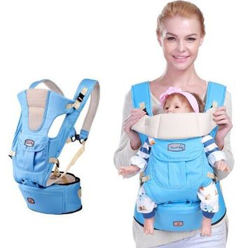 Toddler Backpack class New 6 in 1 For 0-36m infant toddler ergonomic baby carrier sling backpack bag gear with hip seat wrap newborn Waist Stool Belt AT_50_3