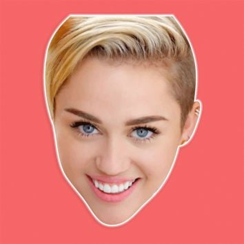 Happy Miley Cyrus Mask by RapMasks