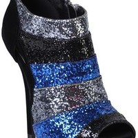 color blocked glitter bootie - debshops.com