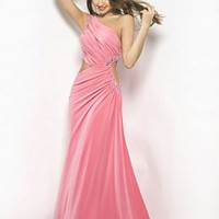 Buy Sexy Sheath/Column One-shoulder Floor Length Evening Dress under 200-SinoAnt.com