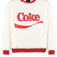 COKE FUR PULL OVER / OFF WHITE