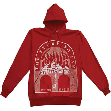 Story So Far Men's  Under Soil And Dirt Hooded Sweatshirt Red Rockabilia