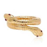 18K Yellow Gold Il Serpente Bracelet | Moda Operandi