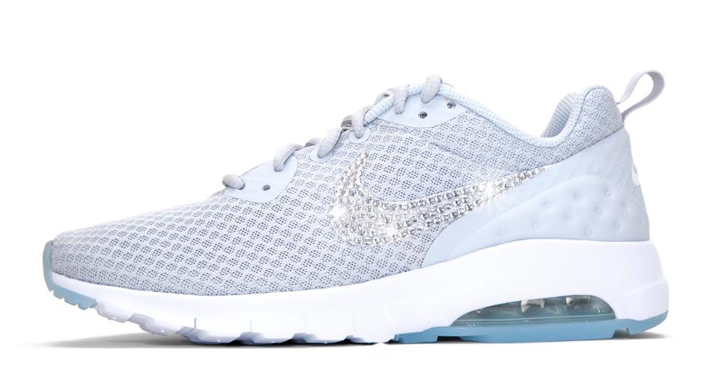 Nike Air Max Motion LW + Swarovski Crystals - Grey White e4844e4f72