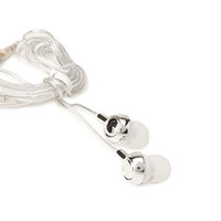 FOREVER 21 Metallic Ear Buds Silver/White One