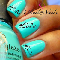 2 sets Nail WRAPS Nail Art Water Transfers Decals  by Hailthenails