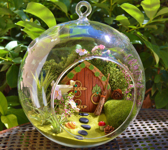Hobbit House Terrarium Fairy Garden From Beach Cottage