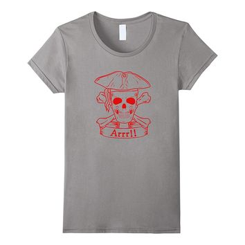 Scary Pirate Skull T-shirt - Arrr! Talk Like A Pirate Day