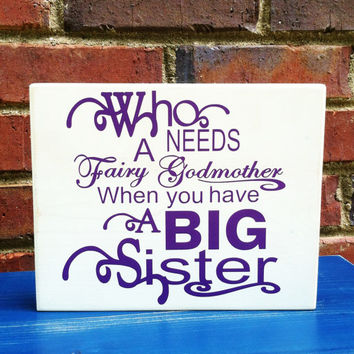 Big Sister Wood Sign Nursery Home Decor Quote Design by Turquoise Wood Works
