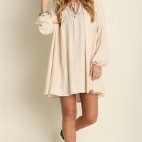 Candy Shop Trapeze Dress - Cream