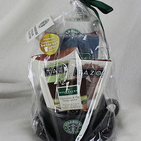Starbucks Gift Pack Large Coffee Cup Tea Chocolate Beverage 2009 New Older Set