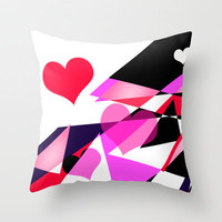 Single Track to Love 1 Throw Pillow by Vikki Salmela | Society6