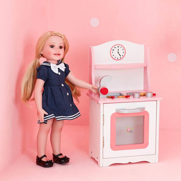 "Olivia's Little World - Little Princess 18"" Doll Sweet Pink Kitchen"