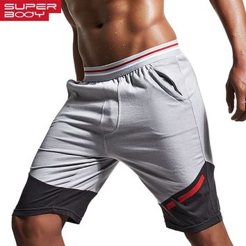Super Body Brand Men GYM Sport Shorts Comfy Cotton Joggers Running Shorts Man Exercise Yoga Training Short Sweatpants Quality