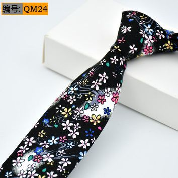 Hot Sale Mens Slim Tie Dot & Floral & Camouflage Patterned Ties 6cm Neck Ties Fashion Skinny Tie Wedding Party NeckTies