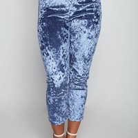 Velvet High Waisted Jogger Pants
