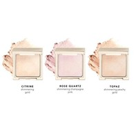 Holiday Travel Sized Powder Highlighter Gift Set 1 - Citrine, Topaz and Rose Quartz