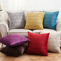 Pillow Single Multi 8 Colors Pattern Cushion Luxury Home Decor Purple Pillow Modern Chic Decorations Classic Cushion