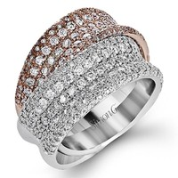 Simon G. Pave Set Right Hand Diamond Crossover Ring