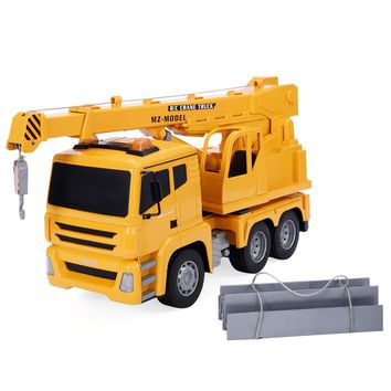 Goplus 1/18 5CH Remote Control RC Crane Heavy Construction Lifting Truck Toy New