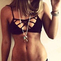 Black Cut-Out Low Rise Bikini Set