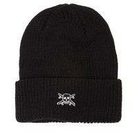 Fourstar Pirate Patch Fold Beanie - Mens Hats - Black - One