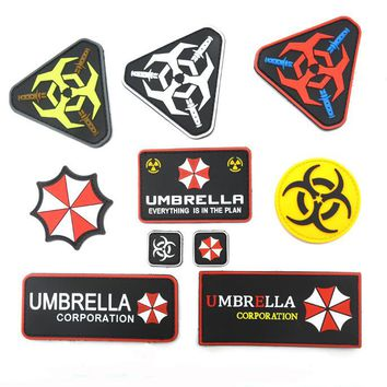 Resident  Evil racoon city Patches hook Umbrella Corporation logomilitary badge  tactical morale patches custom for coat vest