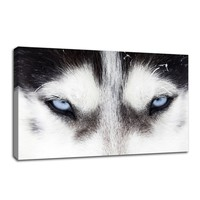 Animal Wall Art Canvas Painting Picture Print Art Wolf Eyes Photo Canvas Prints Poster Art For Home Wall Decoration(Frame: No)