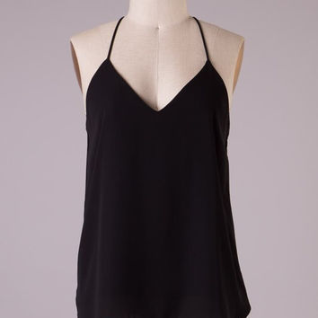 Flowy Tank Top - Black