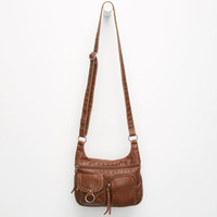 Pocket Organizer Crossbody Bag Cognac One Size For Women 25596640901