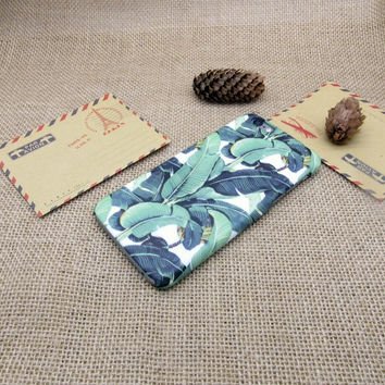 Tropical forest leaves mobile phone case for iphone 5 5s SE 6 6s 6 plus 6s plus + Nice gift box 072601