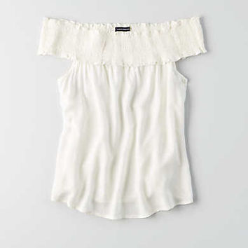 AEO Off-The-Shoulder Top , Cream
