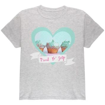 DCCKU3R Treat Yo Self Cupcakes Youth T Shirt