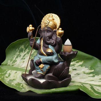 Elephant god incense burner base Ornaments