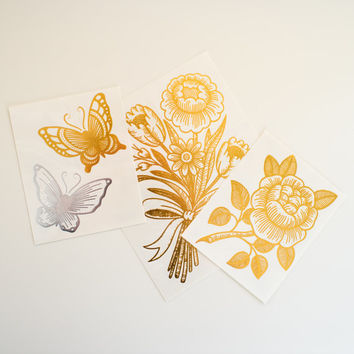 Gold & Silver Metallic Temporary Tattoo Collection. Myra Oh Metallic Artist Pack.