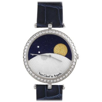 VAN CLEEF & ARPELS Diamond and Sapphire Day and Night Watch