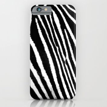 Zebra iPhone & iPod Case by Derek Delacroix