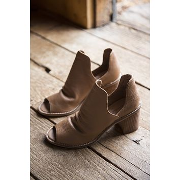 Carlita Cow Leather Pee Toe Bootie, Honey Brown   Chinese Laundry