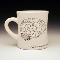 zombies love brains large diner mug MADE TO ORDER by foldedpigs