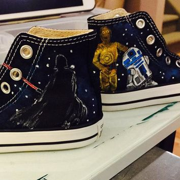 Star Wars hand painted Toddler Converse Shoes
